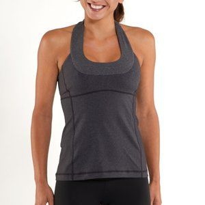 Lululemon Scoop Neck Tank Heathered Coal/Black, 6
